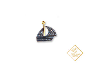 PAVE DIAMOND BOAT CHARMS