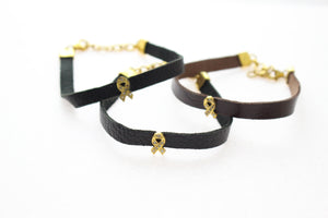 BREAST CANCER DIAMOND BRACELETS- GOLD