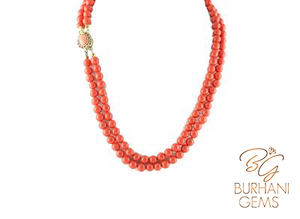 DESIGNER ANTIQUE CORAL NECKLACE