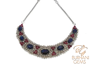 Kyanite and Ruby Diamond Necklace