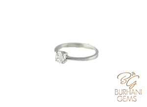WHITE GOLD CLUSTERED DIAMOND RING