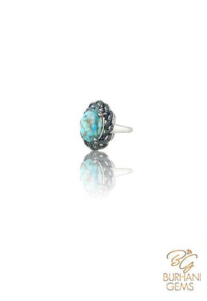 ARIZONA TURQUOISE RING WITH SAPPHIRE
