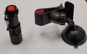 windshield repair UV curing flashlight and suction cup holder