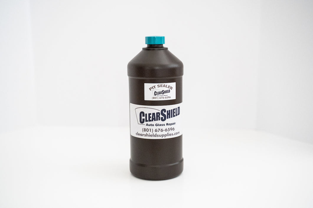 1 liter bottle of clearshield supplies pit sealer resin