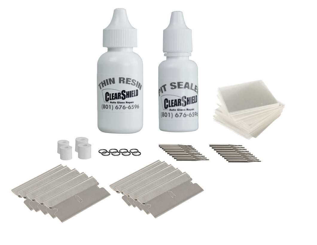 replenishment pack for clearshield supplies windshield repair kit