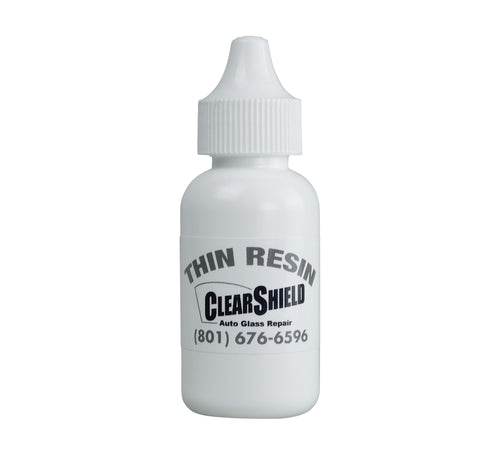 bottle of clearshield supplies thin resin