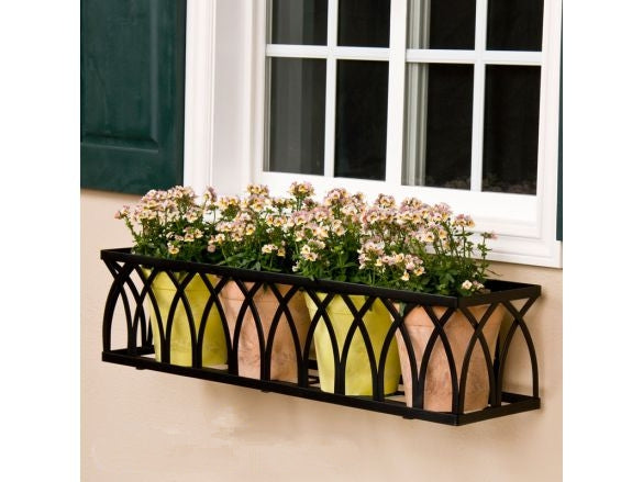Black Criss Cross 3-in-1 Wall/Railing/Floor Stand