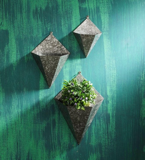 Rustic Metal Pocket Wall Planter