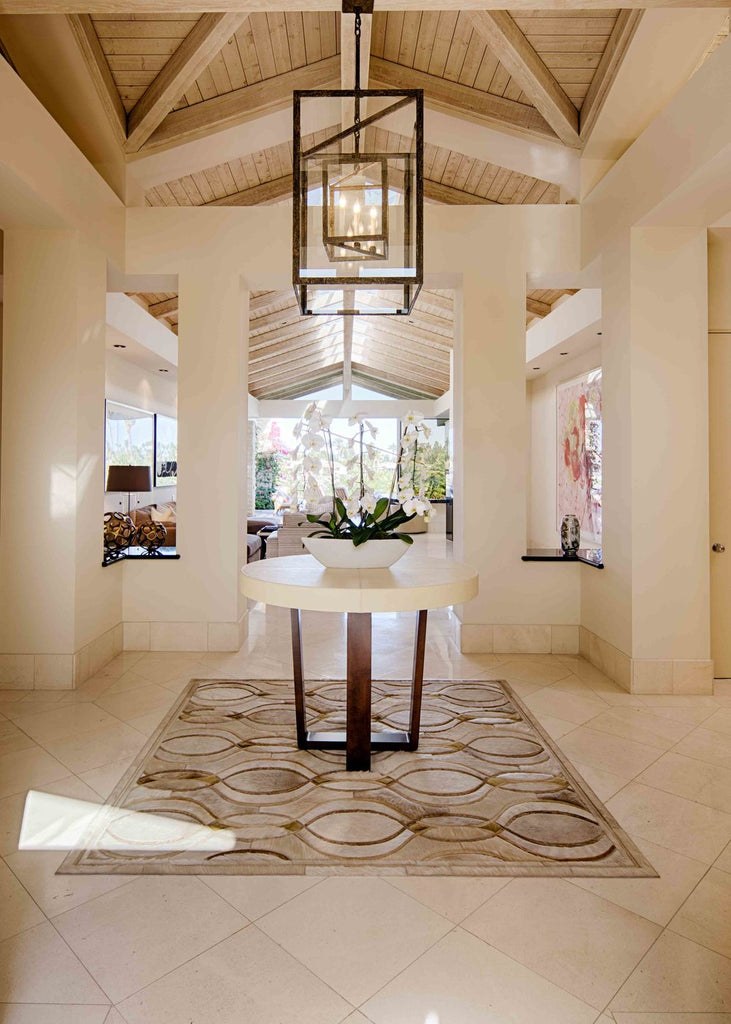 Interior Design Installation by Jennifer Welch Designs | Custom Rug