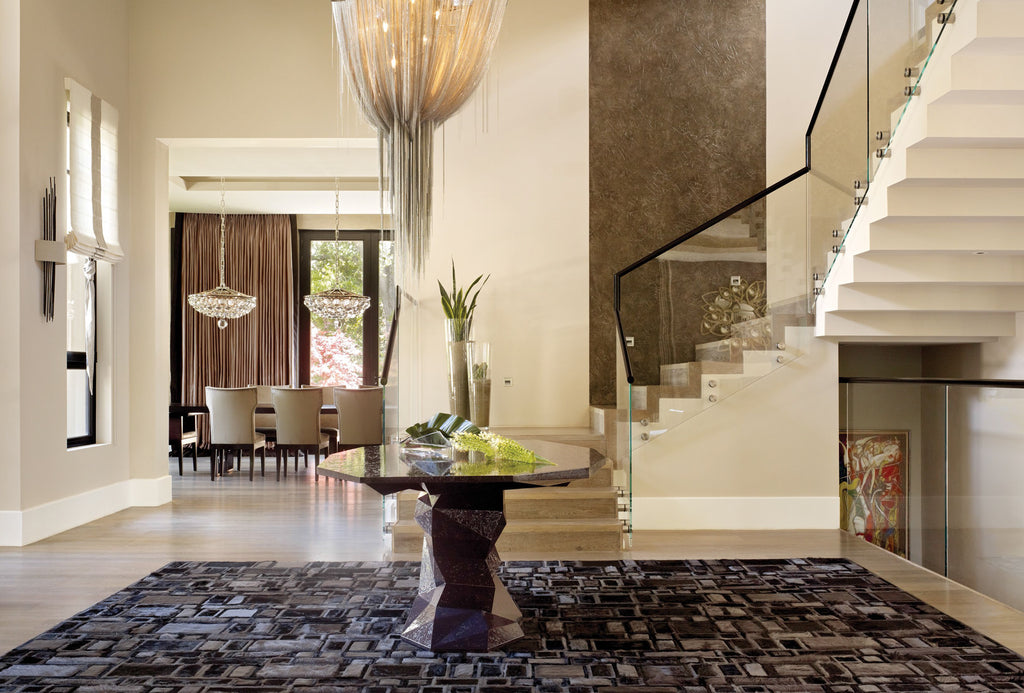Interior Design Installation by Rachel Laxer Design | Confusion Rug