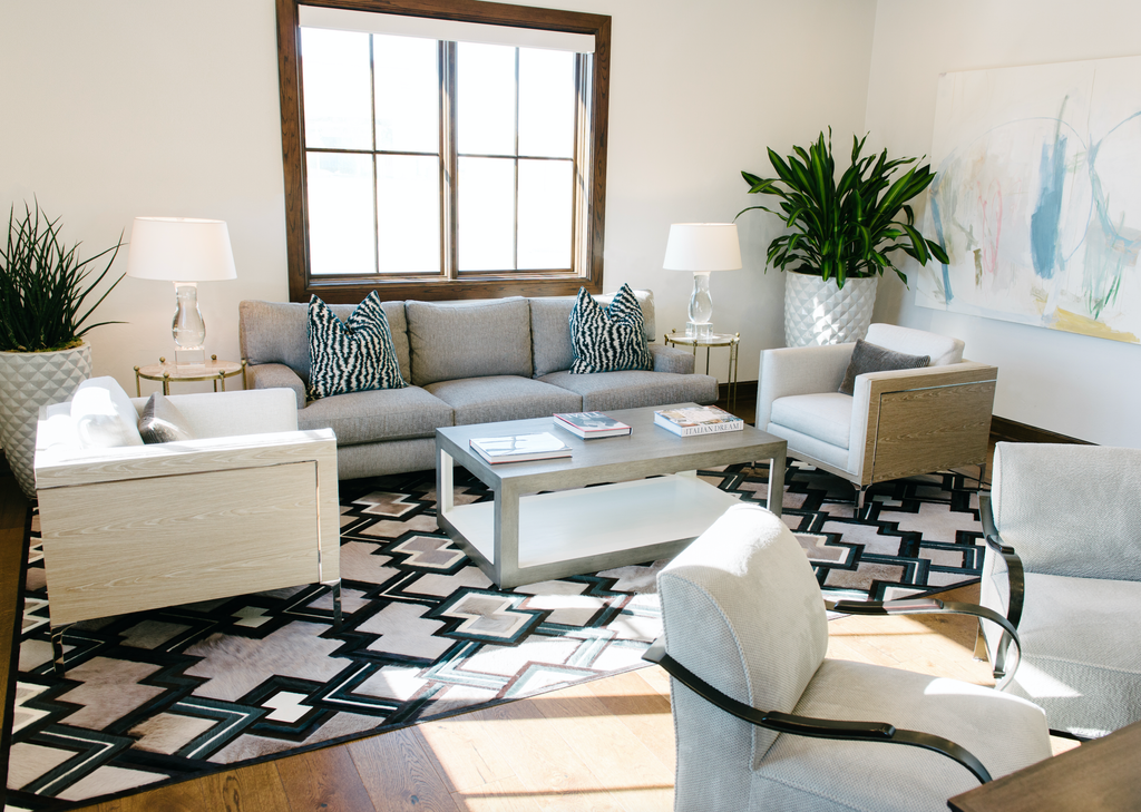 Interior Design Installation by Jennifer Welch Designs | Quiver, Ipanema & Everlong Rug