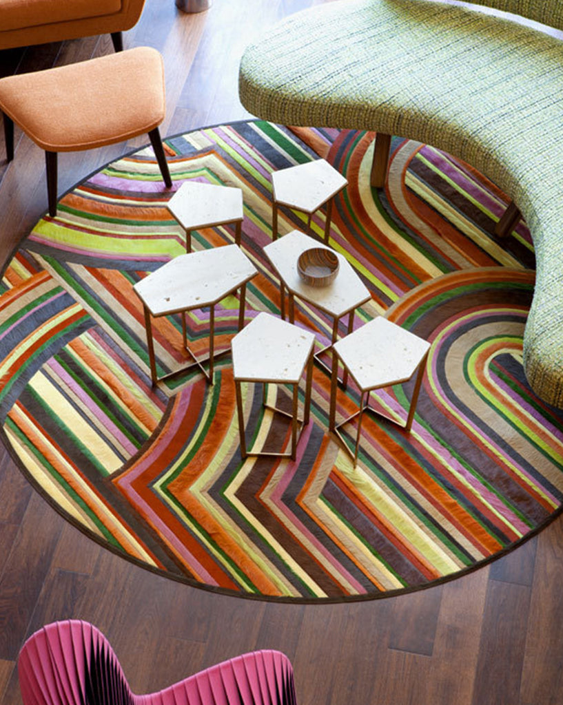 Interior Design Installation by Christopher Kennedy | Custom Retro Rug