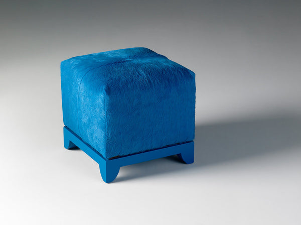 Turquoise Ottoman / 24in x 24in / Hide