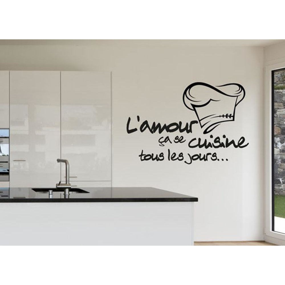 Cuisine Sticker Vinyl Decal Kitchen Tile Chef Wall Decor ...