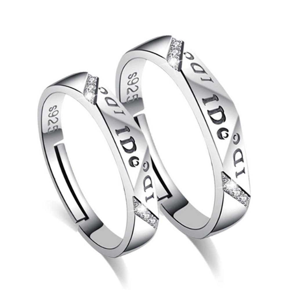 Valentines Day gifts Love life silver couple rings – PrimeTrolley