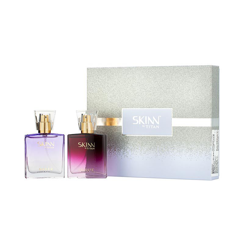 Titan Skinn Sheer and Celeste Gift Set EDP 50ml (25ml x 2)