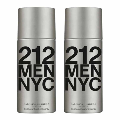 Carolina Herrera 212 Men Deodorant Spray (Combo Pack of 2)