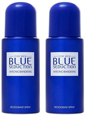 Antonio Banderas Blue Seduction Deodorant for Men (Pack of 2)