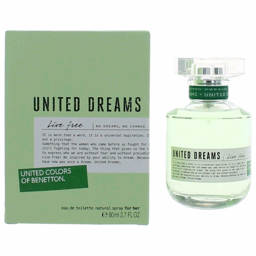 United Colors of Benetton United Dreams Live Free EDT 80ml for Women