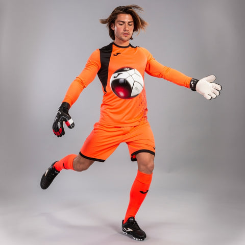 Zamora IV Goalkeeper Set (Shirt, Shorts and Socks) Orange/Black