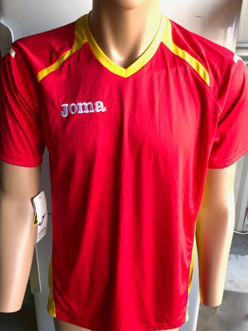 Joma Red/Yellow Short Sleeved T-Shirt x1