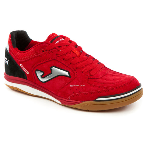 Futsal Shoe - Top Flex Nobuck 826 Red Indoor