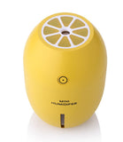 Amposei Portable Mini USB Humidifier , 180ML Cute Lemon Shape Ultrasonic Cool Mist Maker Steam Diffuser with Night Light for Home Office Car - Yellow