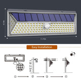 126 LED Outdoor Solar Lights Motion Sensor Wall Mounted Security Light for Garden Frontdoor Deck Yard