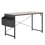 Home Office Desk Writing Study Work Table Workstation with Storage Bag Hook