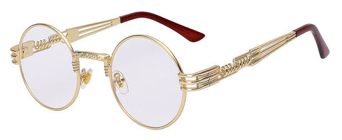 gold and clear quavo glasses