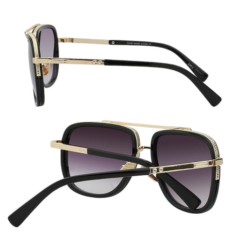 Gold Frame Sunglasses with gradient lens
