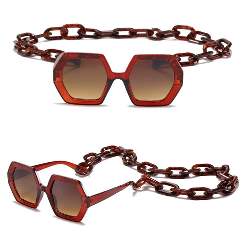 sunglasses with a chain