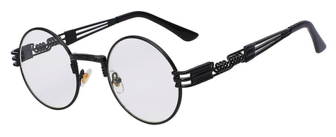 black frame clear lens sunglasses