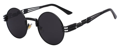black frame black lens sunglasses