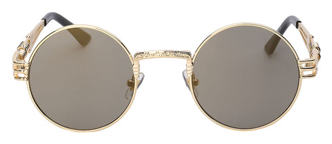 gold frame and gold lens sunglasses
