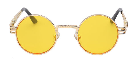 gold frame with yellow lens sunglasses