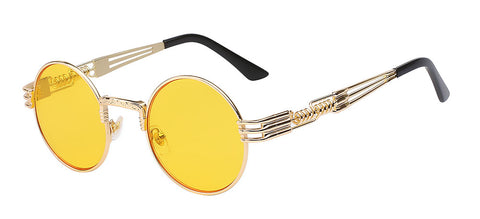 gold and yellow sunglasses