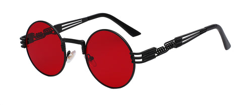 black frame clear red lens