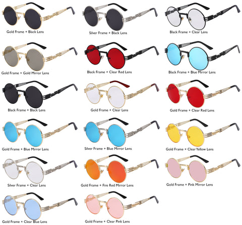 different color lens sunglasses