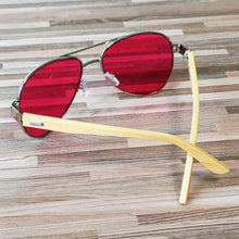 Personalized Wooden Aviator Sunglasses Custom - ShadesOnParty