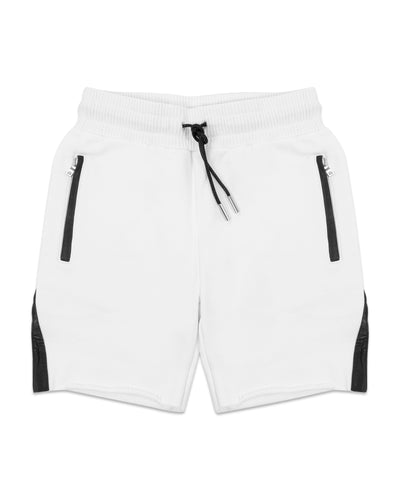 BOXERS WHITE WITH LAMBSKIN CONTRAST