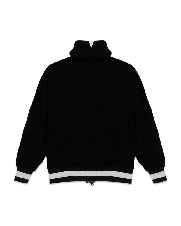 SUEDED OVERSIZE TRACK JACKET