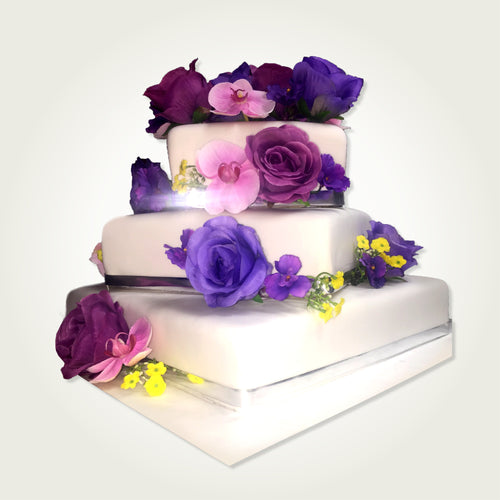 3 Tier Stacked Wedding Cake