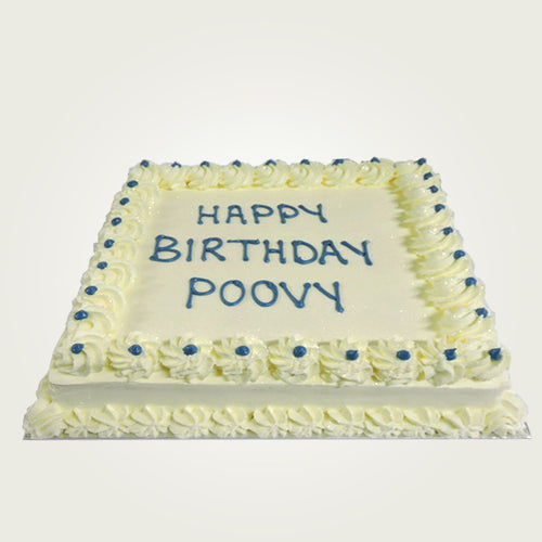 Single Layer Plain Fresh Cream Cake