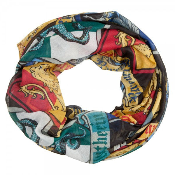 Harry Potter™ Officially Licensed Crests Infinity Viscose Scarf