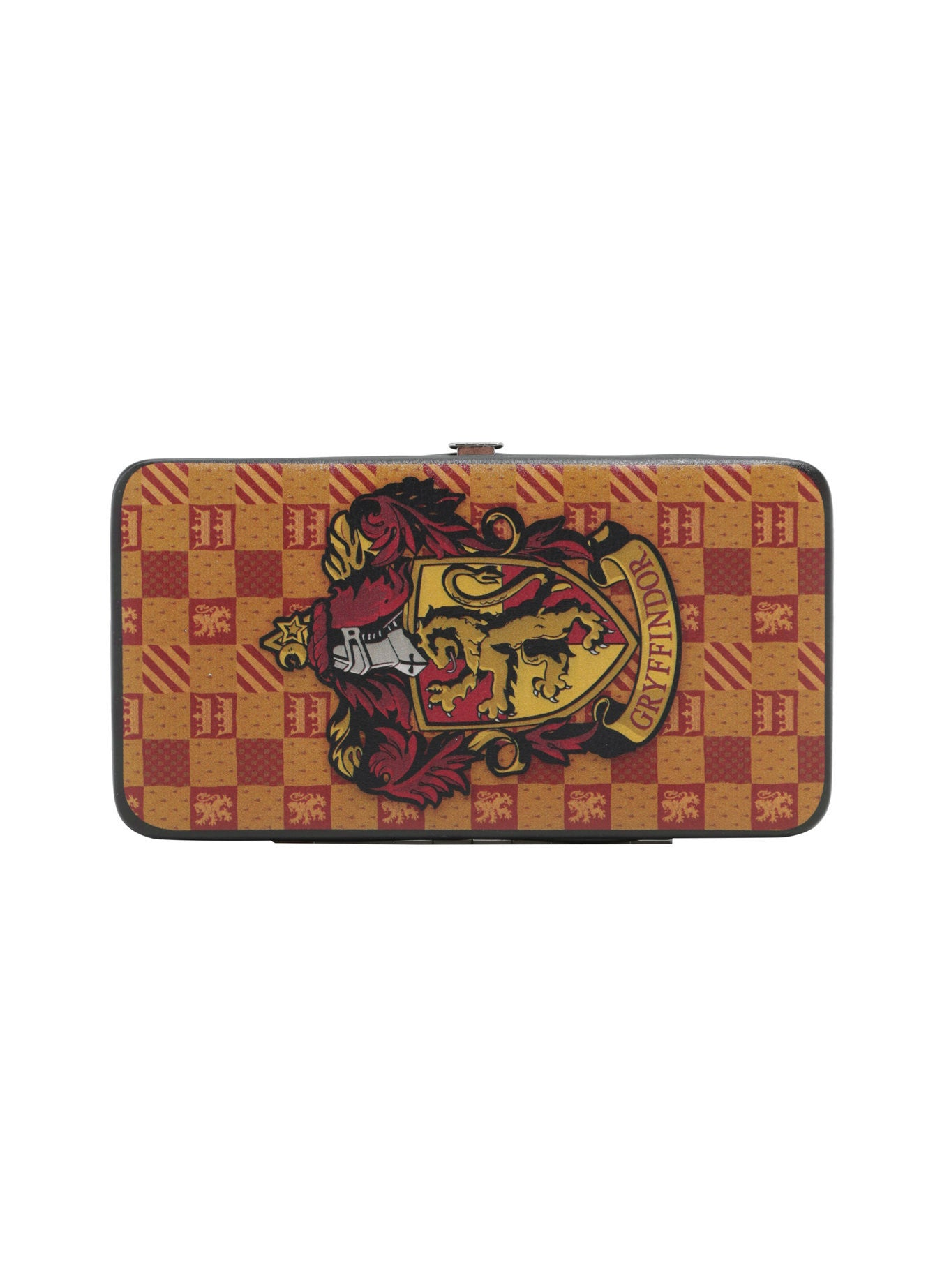 HARRY POTTER GRYFFINDOR CHECKERED HOUSE CREST HINGE WALLET