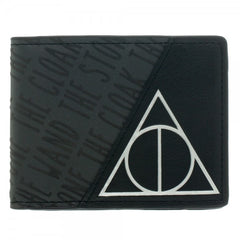 Harry Potter™ Officially Licensed Deathly Hallows Black Bi-Fold Wallet