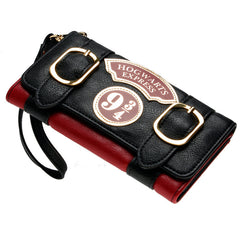 Harry Potter Hogwarts Express 9 3/4 Double Buckle Flap Wallet