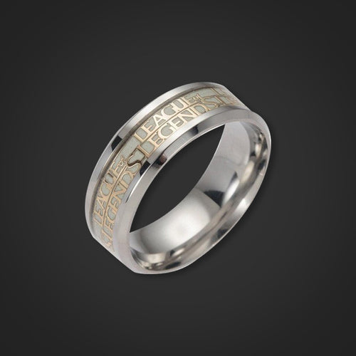 League Of Legends Stainless Steel Glow Ring