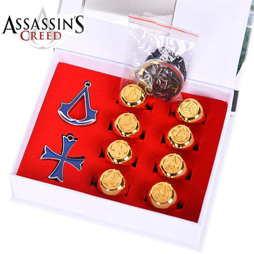 Assassins Creed Necklace Rings Boxed Action Figures
